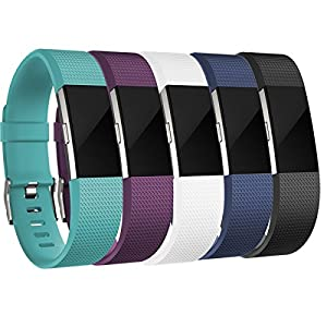 Replacement Bands for Fitbit Charge 2, Fitbit Charge2 wristbands,Small,Black,White,Plum,Navyblue,Teal