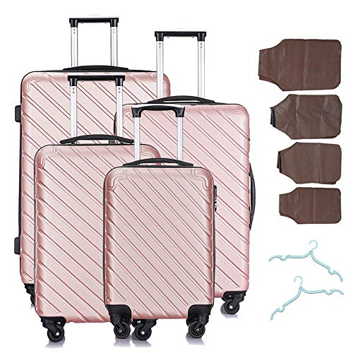 4 Pcs Luggage Set Trolley Spinner Suitcase Hardshell Travel Bag 18