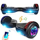 """Spadger Hoverboard with Bluetooth Speaker and LED Banner Flashing Lights Two 6.5"""" Wheels Self-Balancing Electric Scooter Dual 300W Motors Smart Hover Board Adults Kids Gift - UL2272 Certified"""