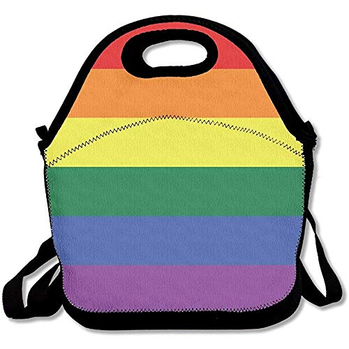(Gay Pride LGBT Flag Lunch Bag Insulated)