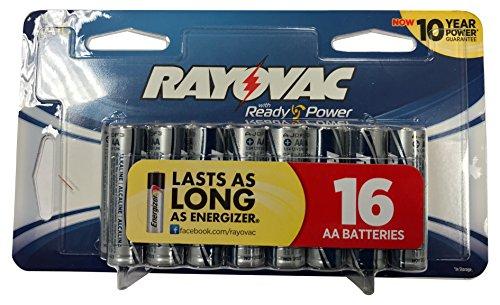 Rayovac 16-Pack AA Batteries E-E51782