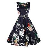 Teresamoon Hot Sale ! Vintage Dress, Women Floral Sleeveless O-Neck Casual Dress