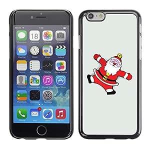 YOYO Slim PC / Aluminium Case Cover Armor Shell Portection //Christmas Holiday Santa Claus Snow Angels 1241 //Apple Iphone 6