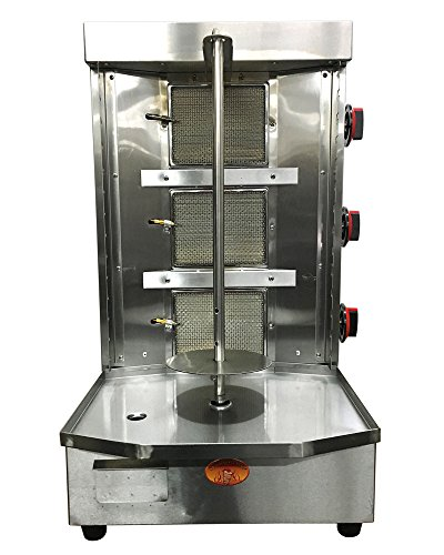 Doner Kebab Machine- Döner- Adana Kebab-Vertical Broiler-3 Burner- Natural Gas- Meat Capacity 25lbs by Spinning Grillers
