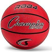 Champion Sports Pro Heavy Duty Rubber Basketball, Size 6