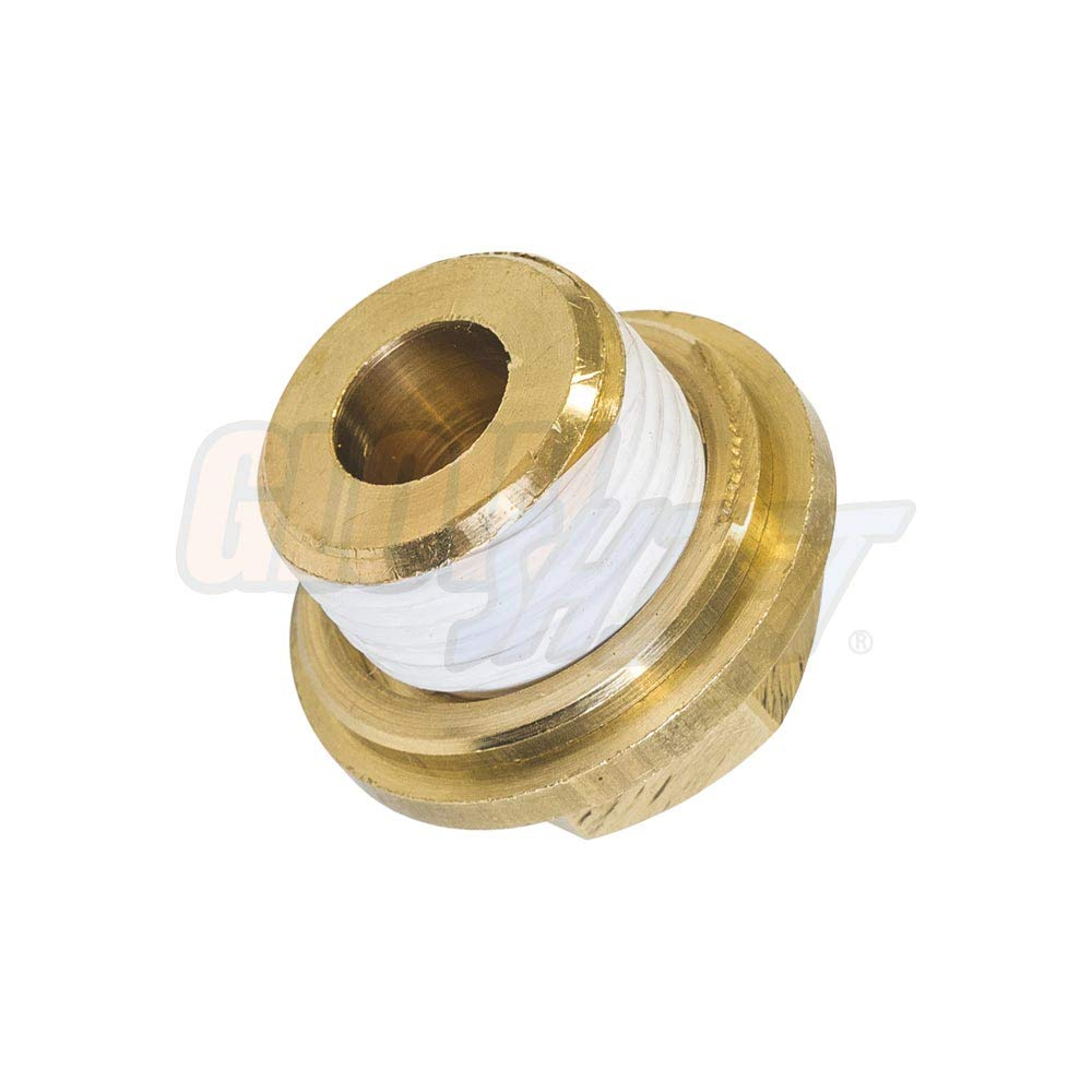 GlowShift Oil Galley Plug Thread Adapter for Subaru EJ Engines - for Oil Pressure & Oil Temperature Gauge Sensors Sending Units by GlowShift