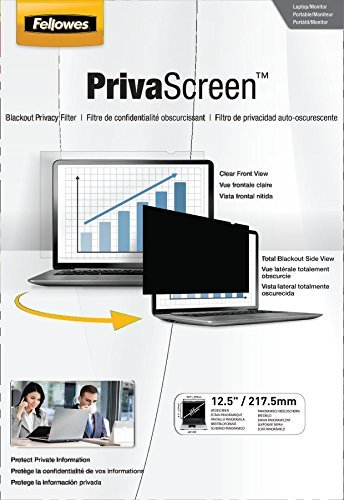 Fellowes PrivaScreen Privacy Filter for 12.5 Inch Widescreen Laptops 16:9 (4813001) Size: 12.5-Inch, Model: 4813001, Electronics & Accessories Store by Gadgets World