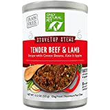 Only Natural Pet Stovetop Stews Grain-Free, Premium Wet Canned Dog Food, Tender Beef & Lamb Stew 12.5 oz Cans (Case of 12)