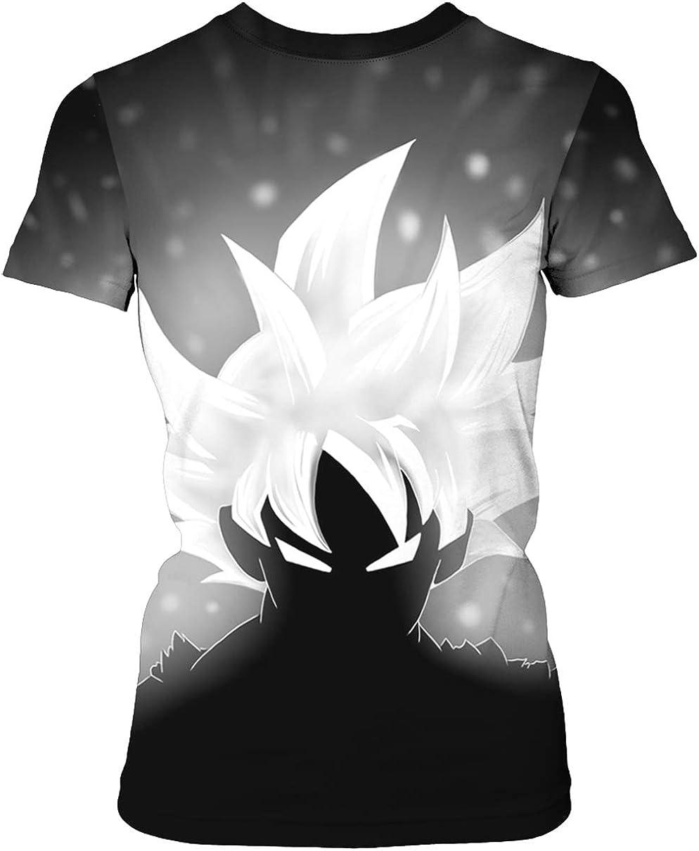 HUASON Maglietta Dragon Ball Series Unisex Stampa Creativa Semplice Summer Manica Corta Goku 90/% Poliestere 10/% Spandex