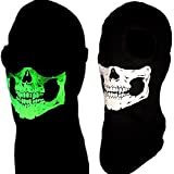 American Made Childs Size Glow in the Dark 2 Hole Skeleton Skull Ghost Ski Face Mask Mw2 Balaclava Helmet Liner Winter Hood for Youth/Kids