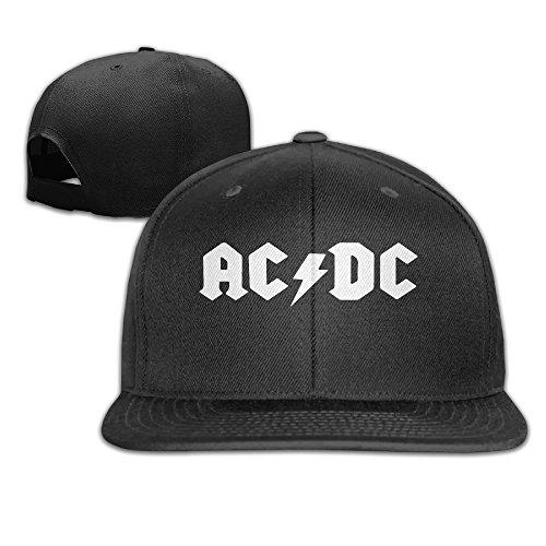 Ogbcom AC DC Logo Snapback Adjustable Flat Baseball (Hard Rock Dc Halloween)