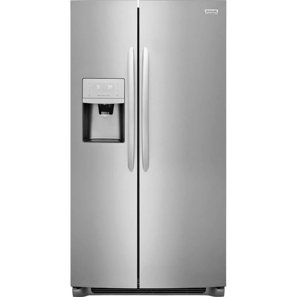 Frigidaire FGSS2335TF Gallery Series 36 Inch Freestanding Side by Side Refrigerator with 22.2 cu. ft. Capacity, in Stainless Steel