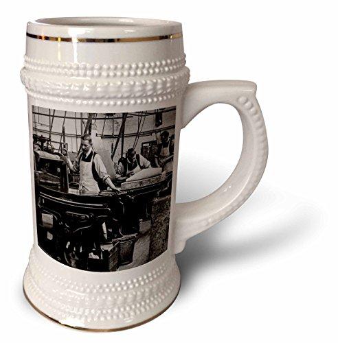 (Scenes from the Past Magic Lantern - Edwardian Industrial Printing Press Process No. 3 Vintage 1910-22oz Stein Mug (stn_246088_1))