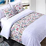 YIH Bed Runner Animal With Cushion Cover, Luxury Hotel Wedding Room Bedroom Decorative Bed End Scarf Protector Slipcover Pad For Pets, 94 Inches By 19 Inches