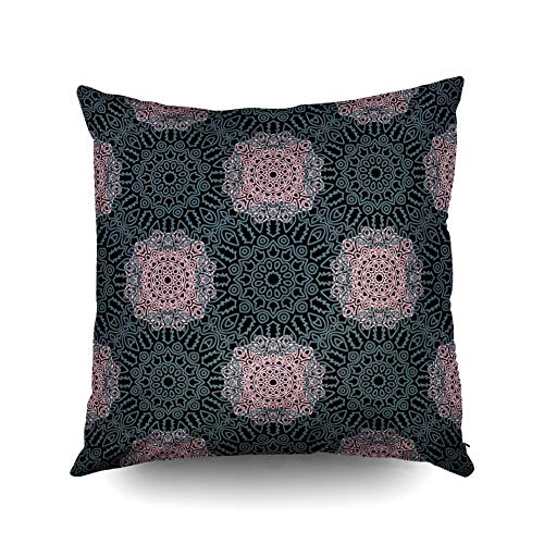 KIOAO Christmas Pillowcase Standard 16X16Inches Square for Cushion Home Decorative, Pattern s Arabesque Rapport Print Calico Chintz Wallpaper Pillow Covers Printed with Both Sides of - Printed Calico