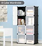 Tied Ribbons 8 Cubes Portable Closet Wardrobe collapsible cabinet closet for Kid's Toys Books Kids clothes Kid's Toys