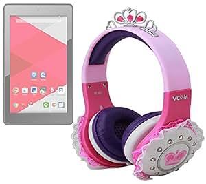 DURAGADGET Auricular princesa Rosa, Púrpura Y Blanco Niño para Tablet Haier Android de CDiscount, c-display 7pulgadas