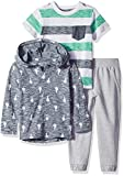 Little Me Boys' Toddler 3 Piece Play Set, Heather Gray, 4T