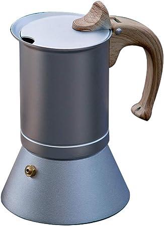 Tscenror HO Cafeteras Italianas Cafetera nórdica Moka Pot Comestible de Aluminio Máquina de café Expresso Cafetera Utensilios de café Cafetera Italiana (Color : Silver, Size : 6 Cup): Amazon.es: Hogar