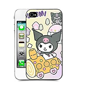 Case88 Designs My Melody & Kuromi Collection 0645 Protective Snap-on Hard Back Case Cover for Apple Iphone 4 4s