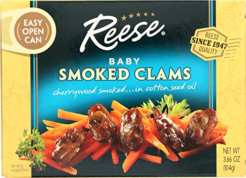 Reese Smoked Baby Clams, 3.66-Ounces (Pack of 10)