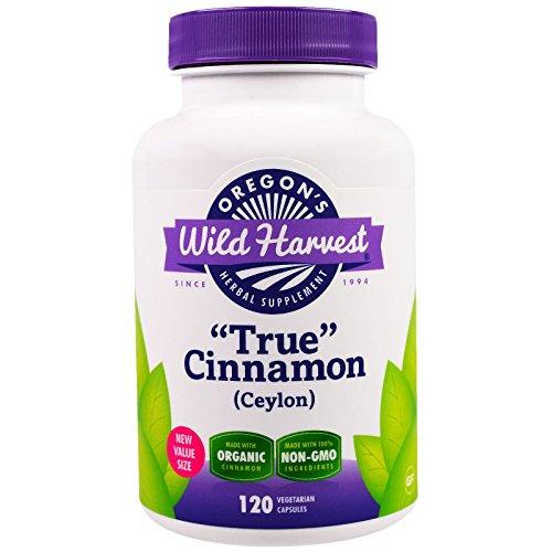 Oregon s Wild Harvest True Cinnamon Ceylon 120 Veggie Caps