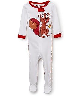 Elowel Ninas 1 pieza patas pijama 100% algodon (6 M-5 Anos)