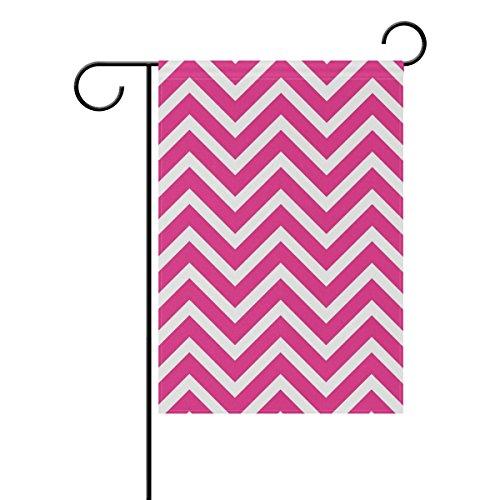 LEISISI Chevrons Pink Garden flag 28