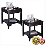 New 2PCS Nolan End Table Durable Quality Furniture Shelf Decor Home Living Room