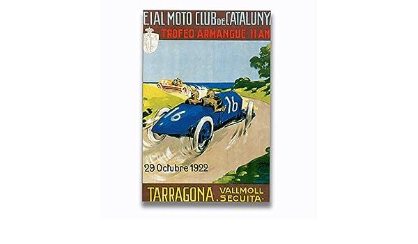 Amazon.com: Tarragona Vintage Auto Poster Aluminum Metal ...