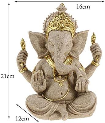 B Blesiya Dios de Elefante Adornos de Hind/ú Artesan/ía de Piedras Regalo para Familiares
