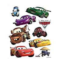 1art1 Cars Poster-Sticker Wall-Tattoo - 2, Lightning McQueen, Holly Shiftwell, Mater and Their Friends (26 x 17 inches)