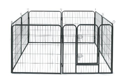 Allmax Metal Pet Fence Black Buy Online In Oman Pet
