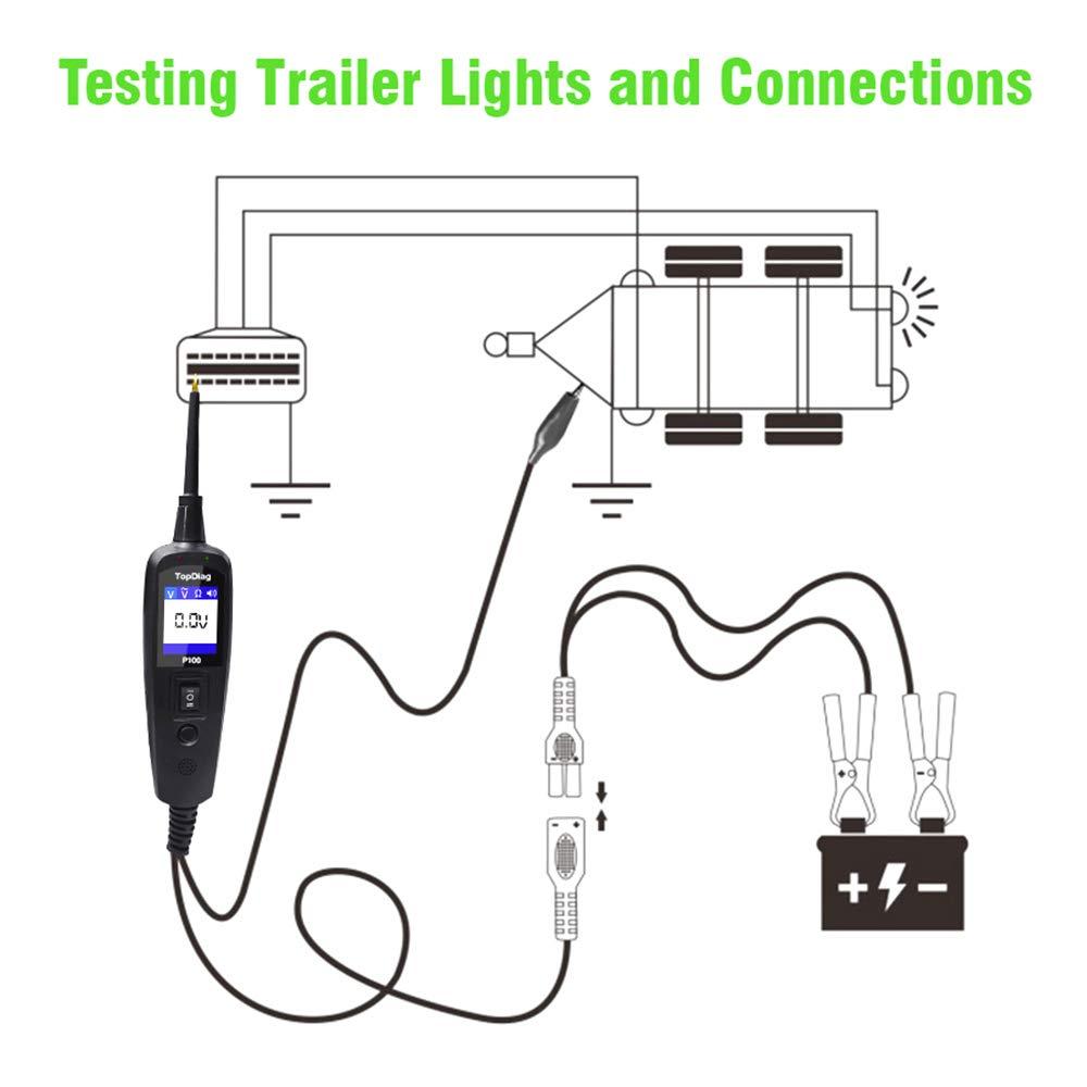 70V Camions 0V JDiag P100 Testeur de Circuit /électrique Dorigine Automobile pour Voitures