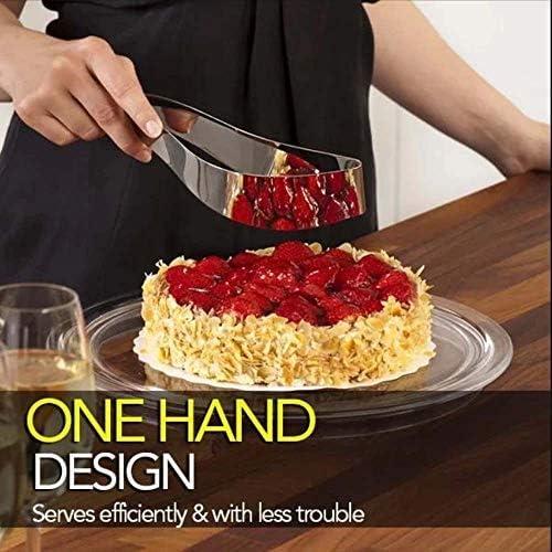Stainless Steel Cake Slicer Cutter Serving Utensils Home Kitchen Gadget B4J0