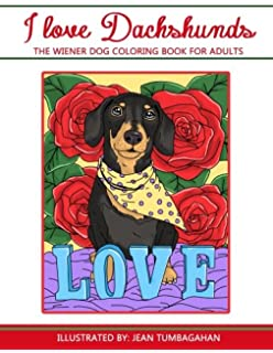 Amazon Delightful Dachshunds A Weiner Dog Colouring Book For