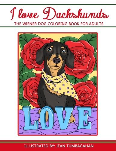 Love Dachshunds Wiener Coloring Beautiful product image