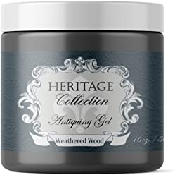 Weathered Wood, Antiquing Gel (Thick Glaze with built in Top Coat) (16oz)