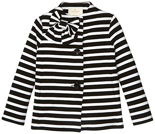 Kate Spade New York Girls' Dorothy Jacket, Black/Cream Stripe, 3T by Kate Spade New York