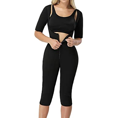 7620b2ab8d65d Image Unavailable. Image not available for. Color  Bodysuit Body Shaper  Post Surgery Seamless Fajas Compression Garment Full Shapewear