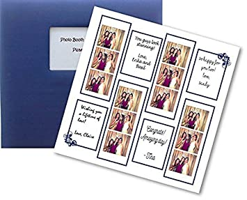 amazon com photo booth guest book album in navy and white