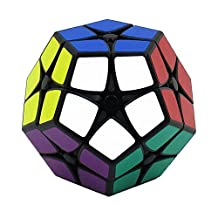 I-xun® Perfect Magic Cube Smooth Dodecahedron Cube Megaminx Cube Black (2x2)