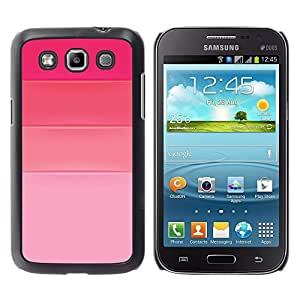 Rosa fucsia Tonos Amor Diseño de Moda - Metal de aluminio y de plástico duro Caja del teléfono - Negro - Samsung Galaxy Win I8550