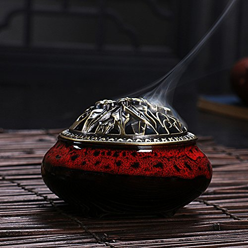Ceramic Home Decration Incense Sticks or Cones Burner Porcelain Incense Holder