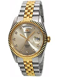 ORIENT President Classic Automatic Sapphire Watch Two Tone Gold EV0J002C