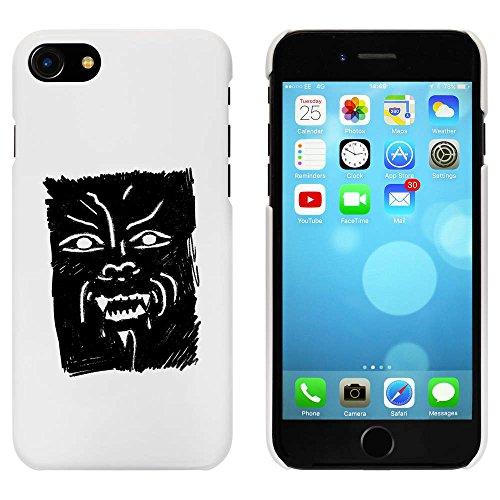 Blanc 'Visage de Loup-Garou' étui / housse pour iPhone 7 (MC00059938)