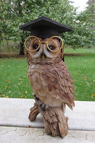 (Owl with Graduation Hat Figurine)