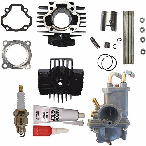 Carburetor Piston - Yamaha PW 50 PW50 Carburetor Cylinder Piston Ring Gasket Top End Kit 1981-2009 FREE FEDEX 2 DAY SHIPPING