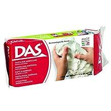Prang DAS Air Hardening Modeling Clay, 1.1 Pound Block, White (387000)