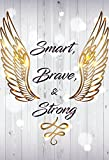 iCandy Products Inc Smart, Brave & Strong Motivational Inspirational Wall Decor Home Art Print - 13x19